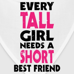 (TALL GIRL - SHORT GIRL) BFF Women's T-Shirts - Bandana