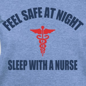 Feel Safe at night sleep with a nurse - Women's Wideneck Sweatshirt