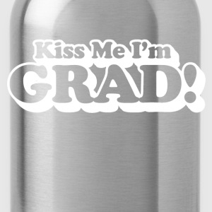 kiss me i'm grad - Water Bottle