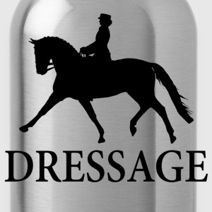 Dressage Horse - Black Women's T-Shirts - Water Bottle