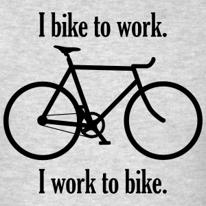 I bike to work I work to bike - Men's T-Shirt