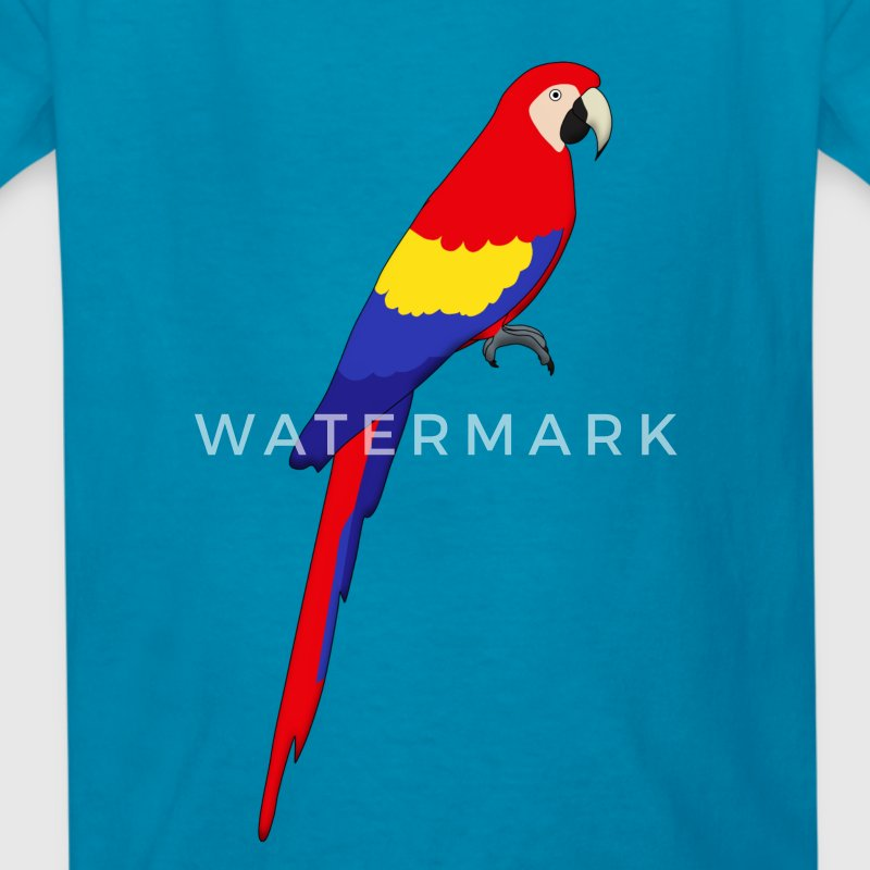 red parrot Kids' Shirts - Kids' T-Shirt