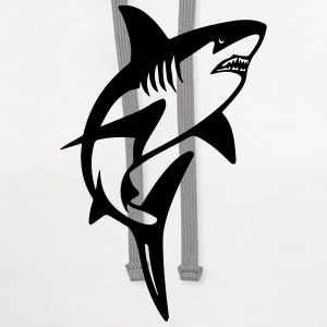 great white shark T-Shirts - Contrast Hoodie
