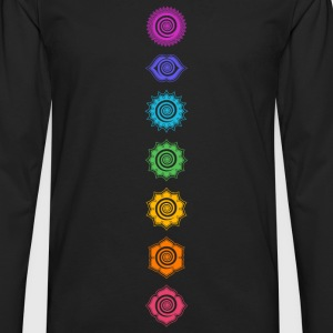 7 Chakras, Kundalini, Cosmic Energy Centers Women's T-Shirts - Men's Premium Long Sleeve T-Shirt