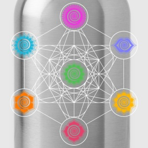 Metatrons Cube, Chakras, Cosmic Energy Centers,  T-Shirts - Water Bottle