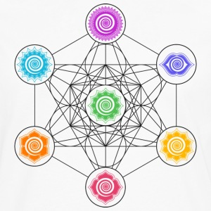 Metatrons Cube, Chakras, Cosmic Energy Centers,  T-Shirts - Men's Premium Long Sleeve T-Shirt