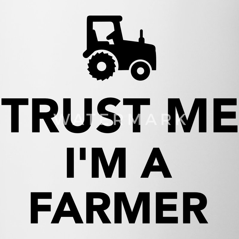 Trust me I'm a Farmer Bottles & Mugs - Contrast Coffee Mug
