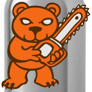 chainsaw bear  T-Shirts - Water Bottle