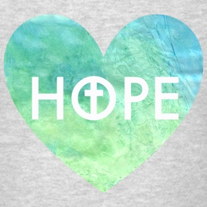 Hope in Jesus Heart Women's Hooded Sweatshirt - Men's T-Shirt