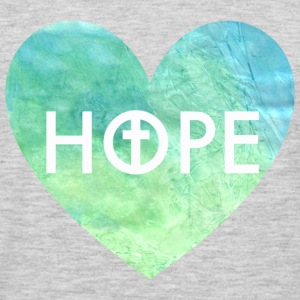 Hope in Jesus Heart Women's Hooded Sweatshirt - Men's Premium Long Sleeve T-Shirt