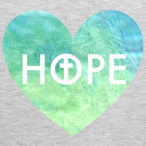 Hope in Jesus Heart Women's Hooded Sweatshirt - Men's Premium Tank