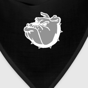 angry tough black bullgog T-Shirts - Bandana