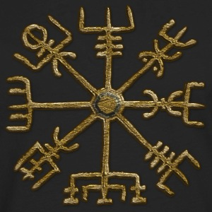 Vegvisir, Icelandic magical stave - navigator T-Shirts - Men's Premium Long Sleeve T-Shirt