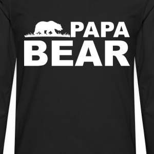 Papa Bear Hoodies - Men's Premium Long Sleeve T-Shirt