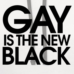 GAY is the new black - Contrast Hoodie