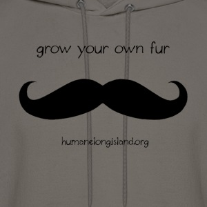 Grow Your Own Fur - Black T-Shirts - Men's Hoodie