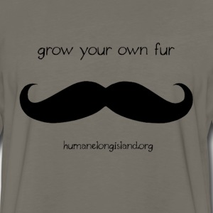 Grow Your Own Fur - Black T-Shirts - Men's Premium Long Sleeve T-Shirt