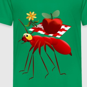 Fire Ant and Picnic Apple - Toddler Premium T-Shirt