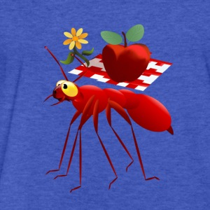 Fire Ant and Picnic Apple - Fitted Cotton/Poly T-Shirt by Next Level