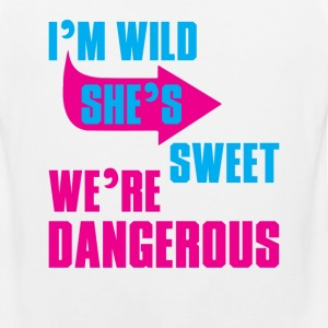 i Am Wild She is Sweet We Are Dangerous Women's T-Shirts - Men's Premium Tank