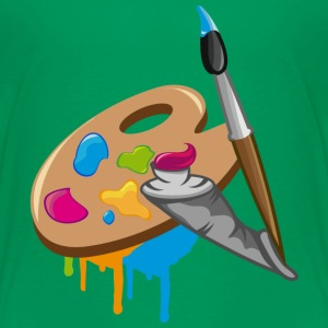 a Paint brush, colors and a painter's palette Kids' Shirts - Toddler Premium T-Shirt