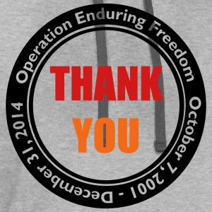 Operation Enduring Freedom Thank You / Red & Blue - Contrast Hoodie
