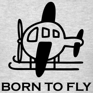 Helicopter - Borm to fly Men - Men's T-Shirt