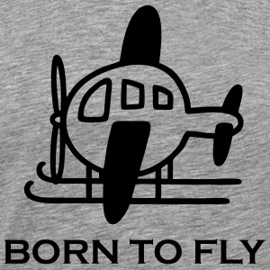 Helicopter - Borm to fly Men - Men's Premium T-Shirt