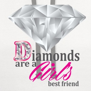 Diamonds are girls best friend - Contrast Hoodie
