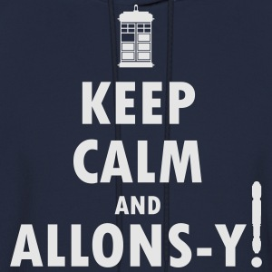 Keep Calm and Allons-y! Distressed / Robot Plunger - Men's Hoodie