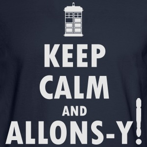Keep Calm and Allons-y! Distressed / Robot Plunger - Men's Long Sleeve T-Shirt