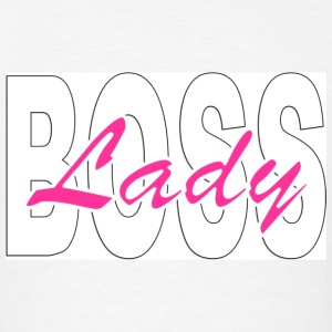 Lady Boss - Pink & Black Background.jpg Hoodies - Men's T-Shirt