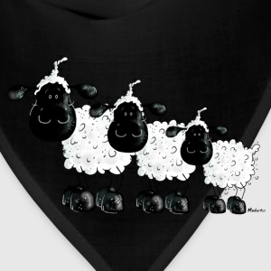 Three Cute Black Sheep Cartoon Kids' Shirts - Bandana