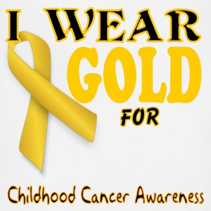 I wear gold for childhood awareness template Women's T-Shirts - Adjustable Apron
