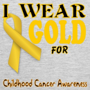 I wear gold for childhood awareness template Women's T-Shirts - Men's Premium Tank