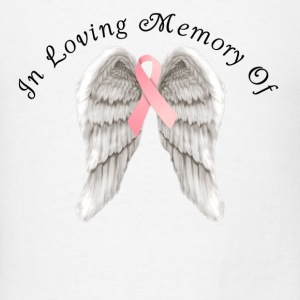 Memory Angel Wings for Breast Cancer template Tanks - Men's T-Shirt