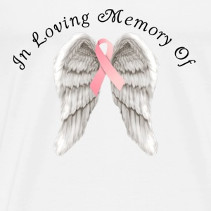Memory Angel Wings for Breast Cancer template Tanks - Men's Premium T-Shirt