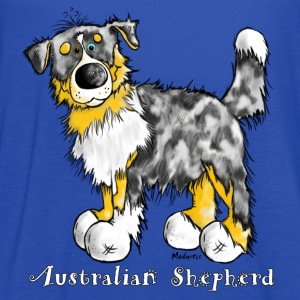 Cute Australian Shepherd – Aussie Kids' Shirts - Women's Flowy Tank Top by Bella