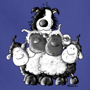 Border Collie And Sheep - Dog T-Shirts - Adjustable Apron