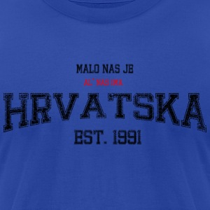 HRVATSKA - malo nas je Hoodies - Men's T-Shirt by American Apparel