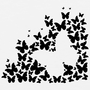 Butterfly Silhouette (1c)++2014 T-Shirts - Men's Premium Tank
