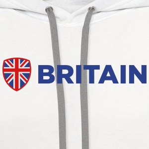 Britain Emblem Side 1 (3c)++2014 Polo Shirts - Contrast Hoodie