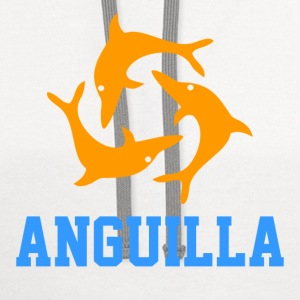 anguilla Women's T-Shirts - Contrast Hoodie
