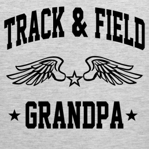 track_and_field_grandpa T-Shirts - Men's Premium Tank