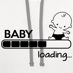 Baby loading Women's T-Shirts - Contrast Hoodie