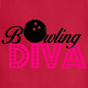 Bowling Diva Women's T-Shirts - Adjustable Apron