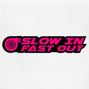 Slow in Fast out (white) - Adjustable Apron