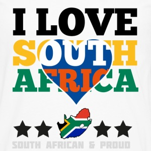 I Love south africa Hoodies - Men's Premium Long Sleeve T-Shirt