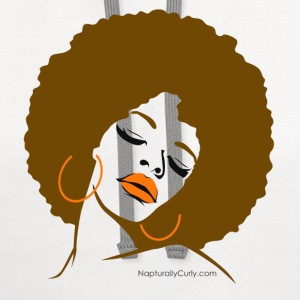 Afro Diva (Brown Afro) - Contrast Hoodie