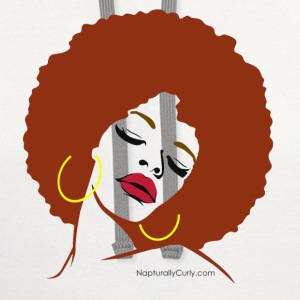 Afro Diva (Red Afro) - Contrast Hoodie